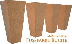 Supellex Ohrensessel.com Fußfarbe Buche Massivholz Ohrensessel Fuß