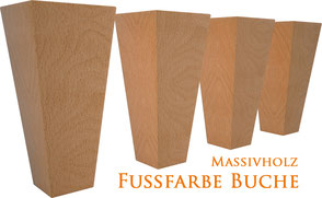 Supellex Ohrensessel.com Fußfarbe Buche Massivholz Ohrensessel Fuß