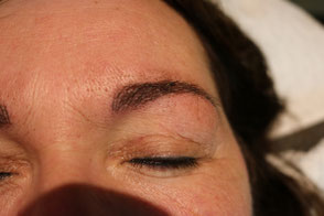 resultaat microblading net na touch up