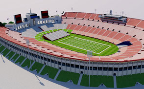 los angeles memorial coliseum stadium 3d design architecture nfl mls mlb baseball soccer football estadio stadion stade california olympic