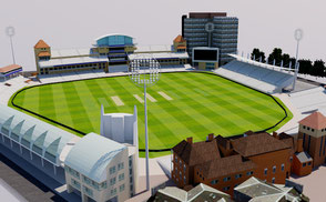 Trent Bridge Cricket Ground - Nottingham 3D model national england cricket ground city athletic sport games stadion estadio stade football soccer london uk united kingdom ar vr world cup league championship competition event exterior