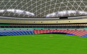 Nagoya Dome low-poly 3d model ready for Virtual Reality (VR), Augmented Reality (AR), games and other real-time apps. olympic arena field ballpark baseball softball