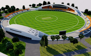 Guanggong International Cricket Stadium - China 3D model national china cricket ground city athletic sport games stadion estadio stade football soccer rugby ar vr asia championship competition event exterior