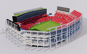 Levis Stadium - San Francisco california usa america united states football soccer superbowl national
