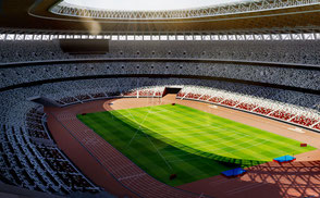 New National Stadium Tokyo - Japan - 2020 Olympics 3D model asia athletic olympics games summer obj fbx ar vr venue arena sport league football competition open championship event concert