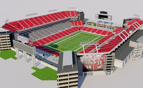 Raymond James Stadium - Florida low-poly 3d model ready for Virtual Reality (VR), Augmented Reality (AR), games and other real-time apps.