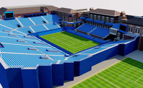 Queens Club Tennis Stadim - London VR / AR / low-poly 3D Models arena atp cup exterior foro games italico italy olympic open roma rome stade stadio stadion stadium tenis tennis tournament world wta 3d model virtual reality british uk vr ar geniusandgerry