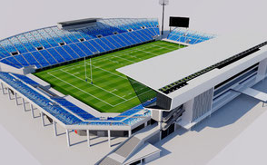 Kumagaya Rugby Ground - Japan football soccer athletic track olympic rugby world cup 2019 sengawa stadium VR / AR / low-poly 3D Models Exterior Stadium Sapporo Dome - Japan VR / AR / low-poly 3d model stade stadion football soccer kumagaya 3d stadium