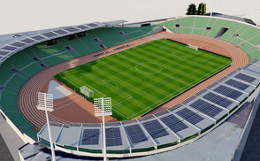 Bislett Stadion - Oslo Norway league football soccer futbol stadium stade stadion championship sport venue team event concert vr ar national low exterior 3d model norway games track athletic