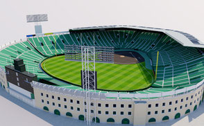 Koshien Stadium - Japan 3D model national athletic sport games stadion estadio stade football soccer rugby ar vr asia championship competition event exterior