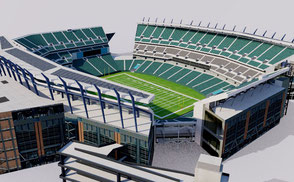 Lincoln Financial Field - Philadelphia low-poly 3d model ready for Virtual Reality (VR), Augmented Reality (AR), games and other real-time apps.