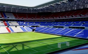 Parc Olympique Lyonnais - Lyon ligue conforama champions league france paris marseille eurocup euro cup world
