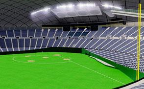 Sapporo Dome  Japan baseball sengawa stadium VR / AR / low-poly 3D ModelsExteriorStadiumSapporo Dome - Japan VR / AR / low-poly 3d model stade stadion football soccer baseball ballpark