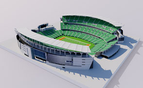 Paul Brown Stadium - Cincinnati low-poly 3d model ready for Virtual Reality (VR), Augmented Reality (AR), games and other real-time apps. bengals national football soccer ohio