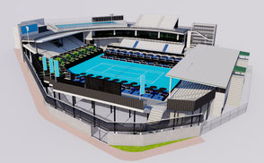 ASB Tennis Centre - Auckland New Zealand tennis atp usa america masters open wta tour atp court championship olympic 3d model ar vr lowpoly