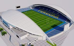 Level5 Stadium, Fukuoka - Japan level5 3d model football soccer athletic track olympic rugby world cup 2019 sengawa stadium VR / AR / low-poly 3D Models Exterior  - Japan VR / AR / low-poly 3d model stade stadion football soccer 3d stadium