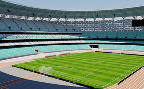 stadium stadion estadio stade football soccer team olympic games athletic sport azerbaijan europe cup arena court baku league event concert exterior
