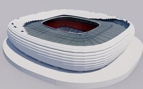 Allianz Arena - Munich germany stadium stadion low-poly 3d model allianz ready for Virtual Reality (VR), Augmented Reality (AR), games and other real-time apps. euro 2020 bayern munchen champions league final fifa stadion