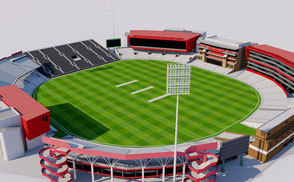 Old Trafford Cricket Ground - Manchester football cricket athletic olympic rugby world cup 2019 sengawa stadium VR / AR / low-poly 3D ModelsExteriorStadiumSapporo Dome - Japan VR / AR / low-poly 3d model stade stadion football soccer baseball ballpark