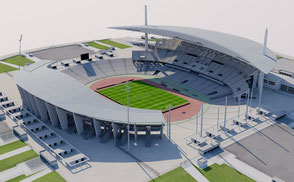 Ataturk Olympic Stadium - Istanbul - Turkey 3D model low-poly 3d model ready for Virtual Reality (VR), Augmented Reality (AR), uefa, champions, league, fifa olympic games, 3d stadium, eurocup, cup national, stadion, team, galatasaray, fenerbache, besiktas