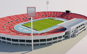 Estadio Nacional de Chile 3D model ar vr 3d model korean stadium arena stade stadion football soccer afc arena asia athletic estadio exterior footbal libertadores league olympic sao paulo soccer soth sport stade stadio stadion stadium national team  club