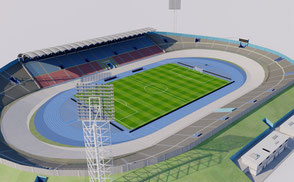 Independence Park - Kingston - Jamaica 3D model ar vr 3d model caribbean arena stade stadion football soccer afc arena asia athletic national exterior footbal champions league olympic soccer soth sport stade stadio stadion stadium national team club