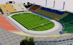Pacaembu Stadium - Brazil 3D model ar vr 3d model korean stadium arena stade stadion football soccer afc arena asia athletic estadio exterior footbal lkorea league olympic sao paulo soccer soth sport stade stadio stadion stadium brasil futebol club
