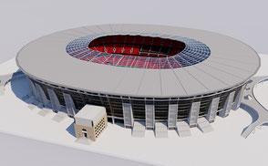 Puskas Arena - Budapest football soccer euro 2020 3d model 3d stadium vr ar virtual budapest hungary sport event concert eurocup league champions uefa fifa