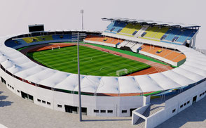 Seongnam Stadium - South Korea 3D model ar vr 3d model korean stadium arena stade stadion football soccer afc arena asia athletic estadio exterior footbal lkorea league olympic seongnam soccer soth sport stade stadio stadion stadium tancheon vleague