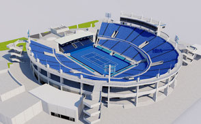 Abu Dhabi International Tennis Center VR / AR / low-poly 3D Model arena atp cup exterior foro games italico italy olympic open roma rome stade stadio stadion stadium tenis tennis tournament world wta 3d model virtual reality uab vr ar geniusandgerry