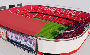 Ramon Sanchez Pizjuan Stadium - Sevills FC low-poly 3d model ready for Virtual Reality (VR), Augmented Reality (AR), games and other real-time apps.
