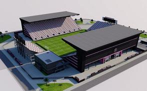 New Lockhart Stadium - Inter Miami nfl internacional mls football america usa national mls florida soccer united league  soccer city arena 3dmodel ncaa