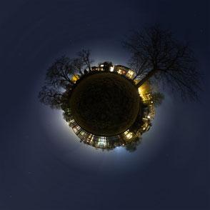 Sphärisches Panorama: Kugelpanoramen dieser Art bezeichnet man auch als little planet.