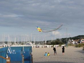 Bild: Drachen am Strand, Mecklenburger Bucht, Kühlungsborn, www.mollisland.de