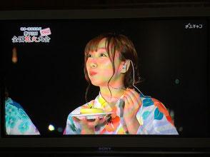 須田亜香里さんがカキーダを試食