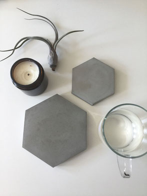 Successfully Tested DIY Hexagon Concrete Coaster Tutorial
