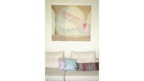 silk, art, wall hanging, foulard, silksoul.ch, Marianne Iten Thürig, Switzerland