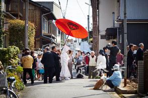 花嫁行列の画像