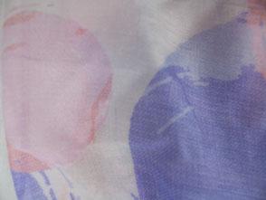 Damenschal Pastel mit Kreisen