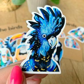 colorful cockatoo sticker