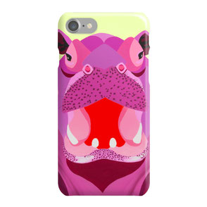 colorful hippo iphone case