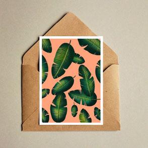 banana leaf illustration