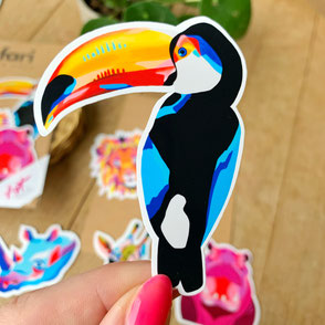 colorful tucan sticker