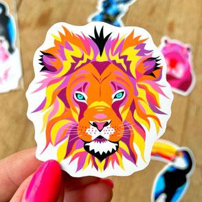 colorful lion sticker