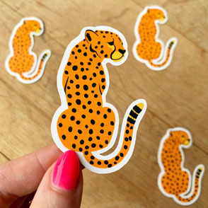 cheetah sticker