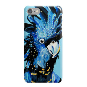 iphone phone case with colorful cockatoo illustration