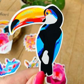colorful tucan sticker