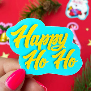 happy ho ho sticker