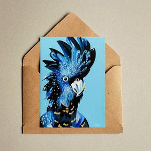 colorful cockatoo illustration print