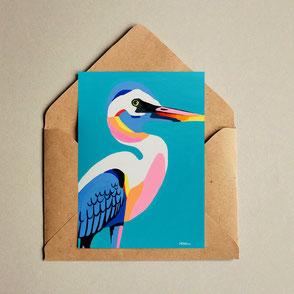 colorful bird illustration print